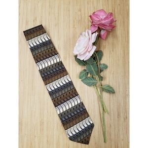 Alexander Julian Colours Tie Brown White